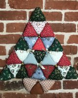 Puffed Patchwork Christmas Tree Wall/Door Hanging