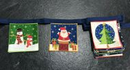 Santa Mini Bunting Blue Tape
