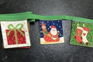 Santa Mini Bunting Green Tape